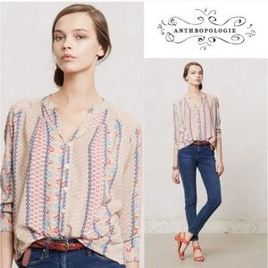 {Anthro} Sunset District blouse